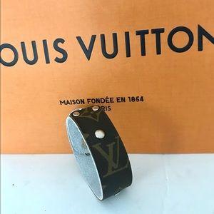 Authentic Louis Vuitton canvas, handmade bracelet